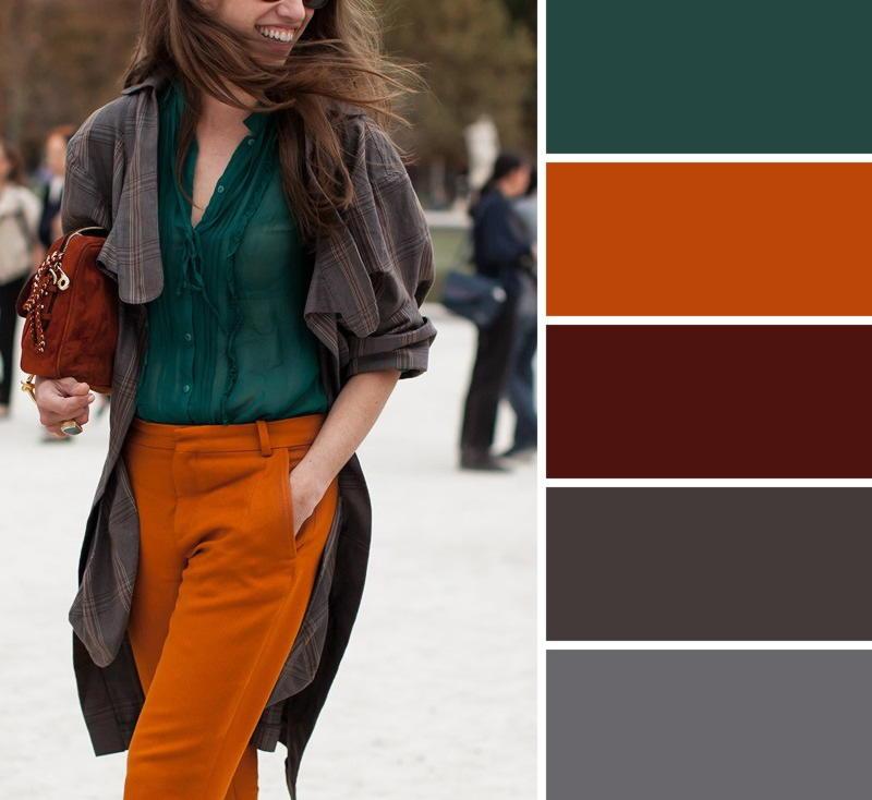 скрыть коричневый цвет сочетание с другими цветами использованием