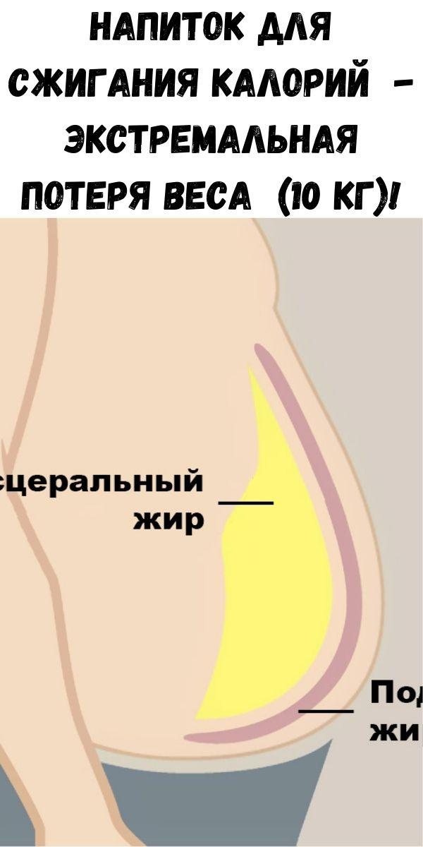 Напиток для сжигания калорий - экстремальная потеря веса (10 кг)!