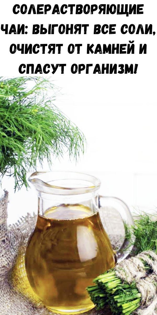 Солерастворяющие чаи: выгонят все соли, очистят от камней и спасут организм!