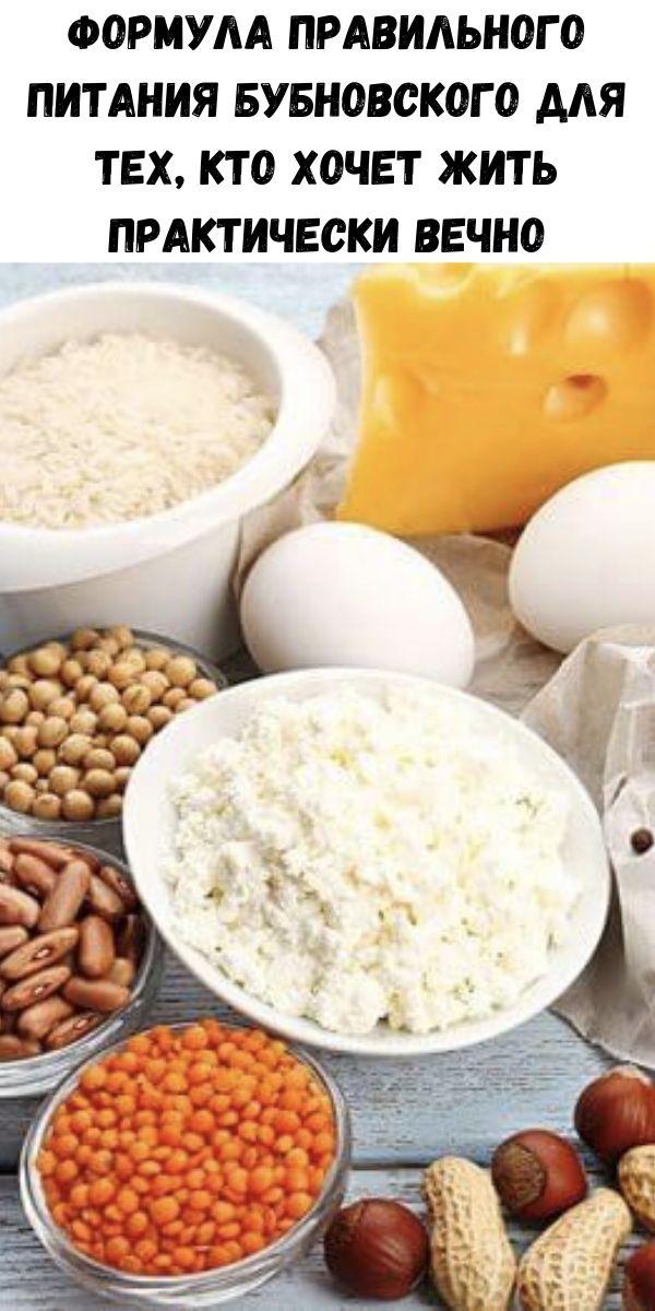 Формула правильного питания Бубновского для тех, кто хочет жить практически вечно