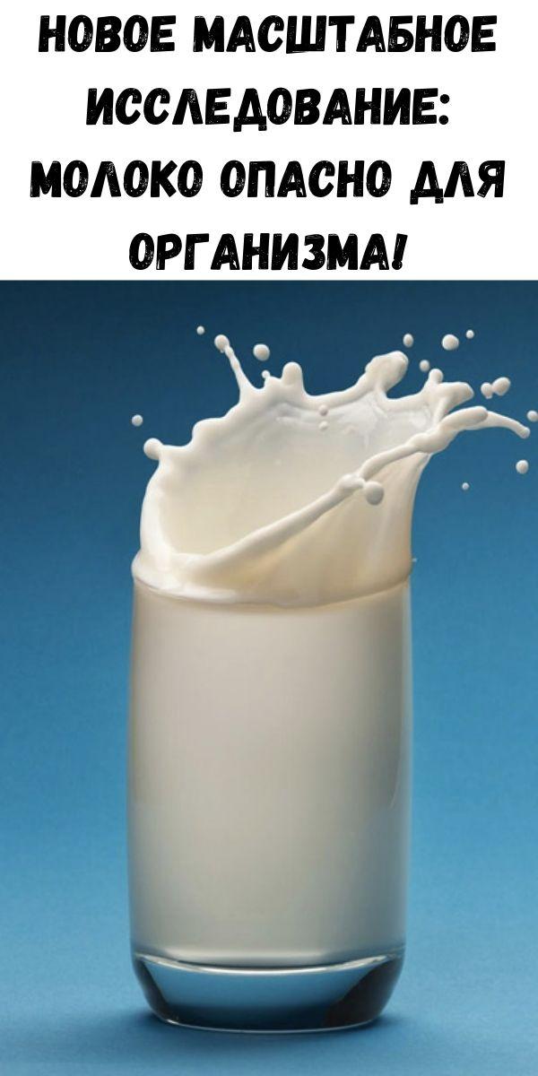Новое масштабное исследование: Молоко опасно для организма!