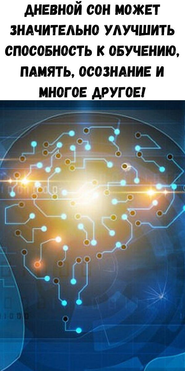 Дневной сон может значительно улучшить способность к обучению, память, осознание и многое другое!