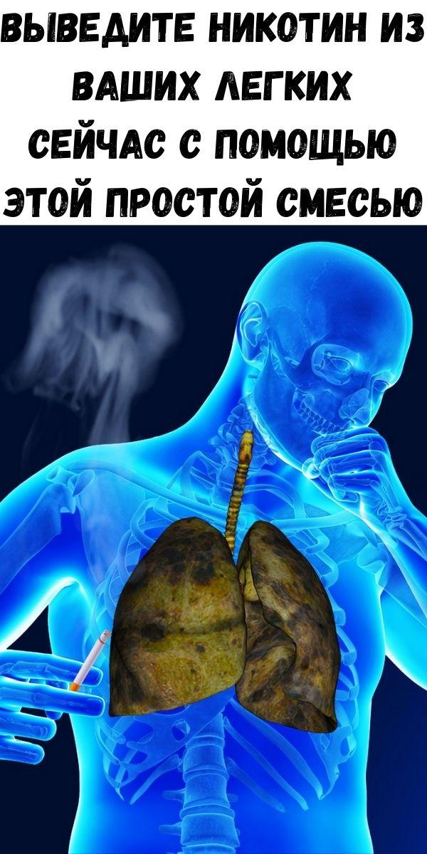 Выведите никотин из ваших легких сейчас с помощью этой простой смесью