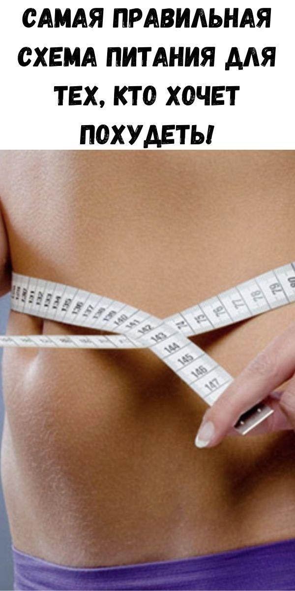 Самая правильная схема питания для тех, кто хочет похудеть!