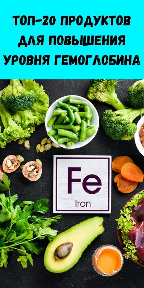 Топ-20 продуктов для повышения уровня гемоглобина