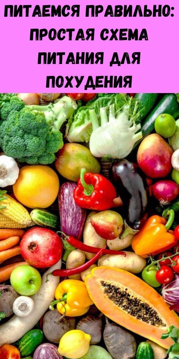 Питаемся правильно: простая схема питания для похудения