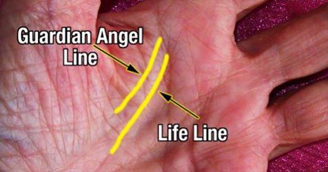Если у вас есть линия ангела-хранителя на вашей ладошке - вы очень особенны