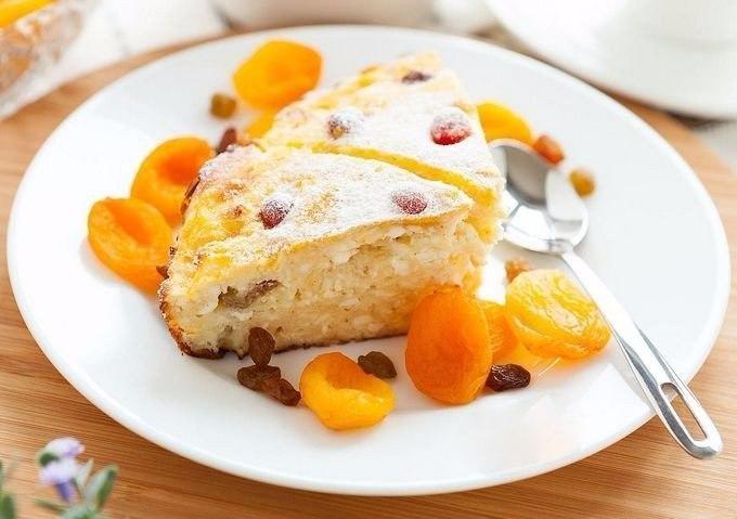 Легкая и вкусная творожная запеканка для тех, кто на диете!