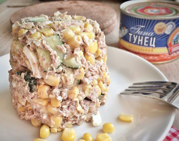 ПП-салат из консервированного тунца в собственном соку
