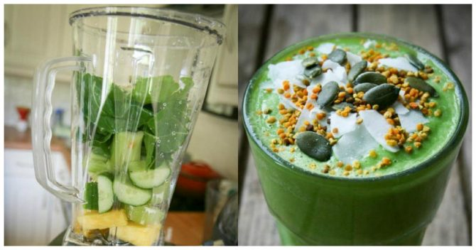 Узнайте, как сделать зеленый смузи для потери веса!
