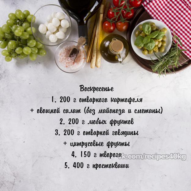 Рацион для похудения и поддержания хорошей формы на 1200-1500 ккал!