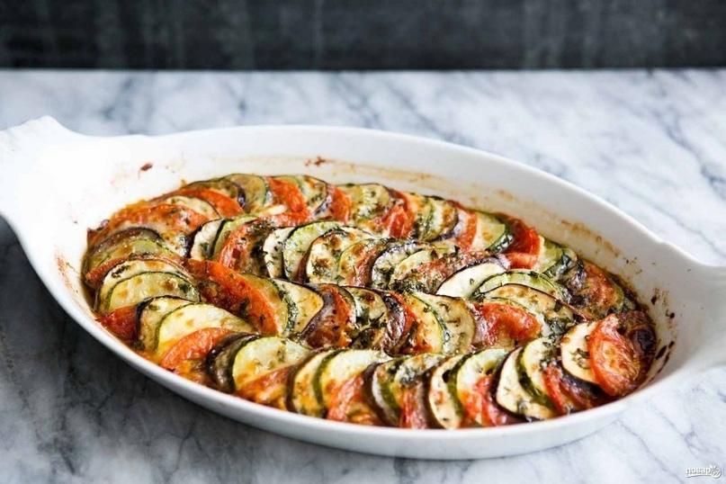 Низкокалорийная овощная запеканка к ужину