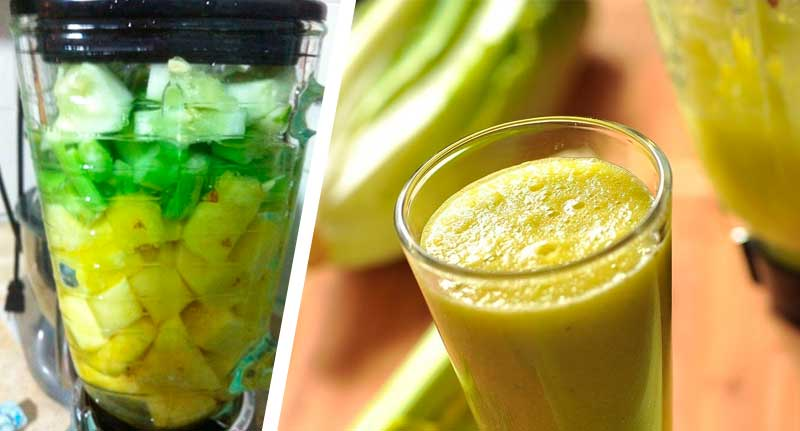 Что произойдет, если пить сок с сельдереем и ананасом каждый день!
