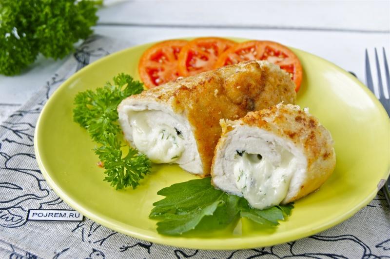 Диетический ужин: очень вкусные куриные рулетики с сыром!