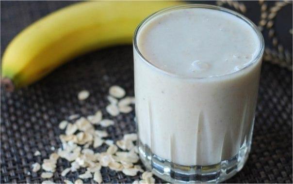 Идеальный завтрак для худеющих - Банановый смузи с овсянкой